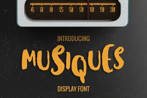 Musiques Display Font