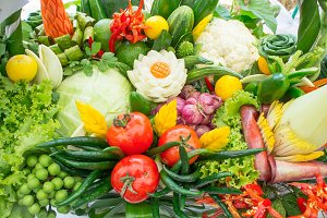 Raw vegetables eat for health