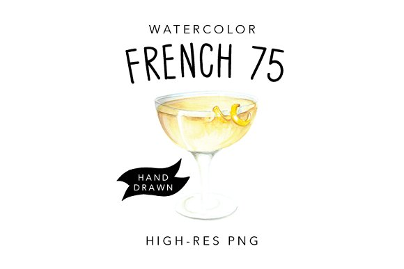Watercolour Cocktail Illustration