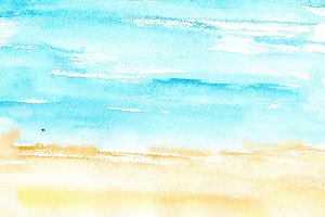 Watercolor beach texture