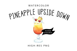 Watercolor Cocktail Illustration