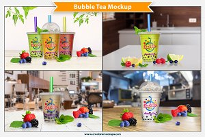 Bubble Tea Mockup