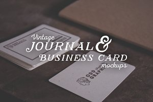 Journal & Business Card Mockups