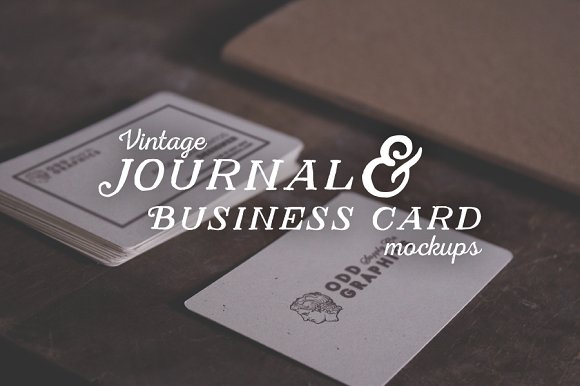 Free Journal & Business Card Mockups
