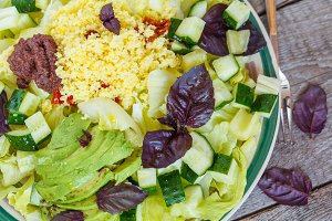 Vegetarian green salad
