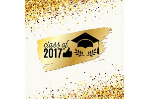 Class of 2017 golden graduate banner