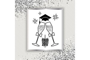 Grad greeting card 2017 class of