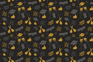 Seamless graduation pattern