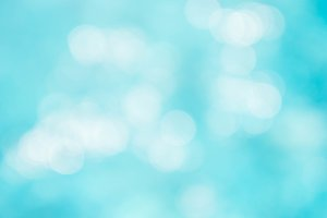 Abstract blue color bokeh style