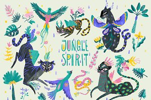 Jungle Spirit Clip Art Set