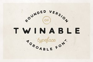 Twinable - Rounded Retro Font