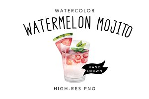 Watercolor Cocktail Drawing
