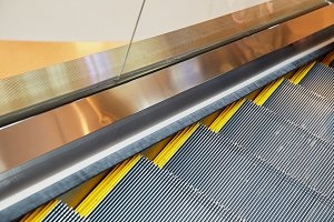 escalator and modern shopping mall