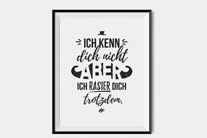 """Poster """"Ich kenn dich nicht…"""""""