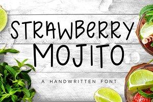 SALE!! Strawberry Mojito Font