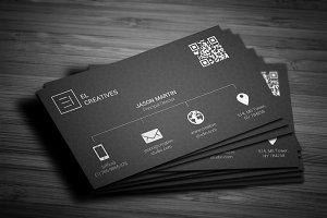 Metro Dark Business Card