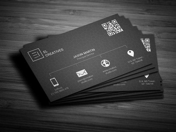 Metro dark business card business card templates creative market colourmoves
