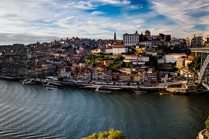 Panorama taken at Ribeiro do Porto, Porto, Portugal