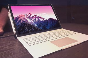 Microsoft Surface Book Mock-up#12