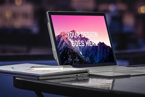 Microsoft Surface Book Mock-up#13