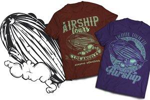 Airship T-shirts And Poster Labels