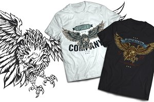 Eagle T-shirts And Poster Labels
