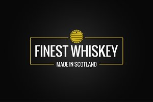 whiskey logo design background