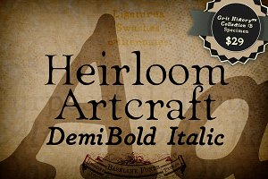 Demi Italic Heirloom Artcraft