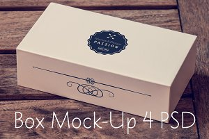 Hipster Mock-Up of luxury box