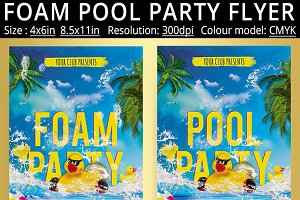 Foam Pool Party Flyer