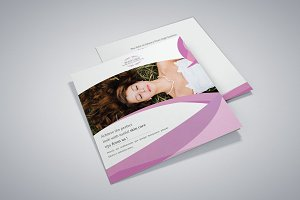 Beauty Salon Square Trifold Brochure