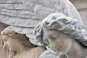 Statue of an angel at the Cemetery