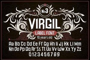 """Vintage otf font """"Virgil"""""""