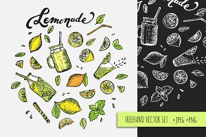 Lemonad & Lemons vector set