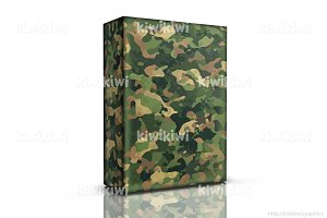 Box with military camouflage
