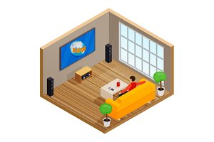 Isometric living room
