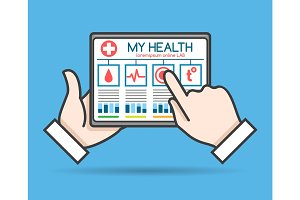 Tablet telehealth concept