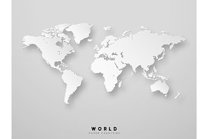 World map detailed