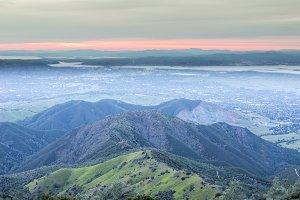 Sunset from Mt Diablo Summit