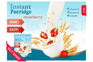 Instant porridge advert concept.