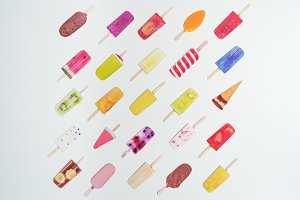 Summer Ice Lollies - Stock Photo