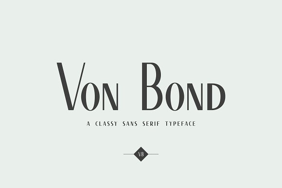 Von Bond A Classy Sans Serif