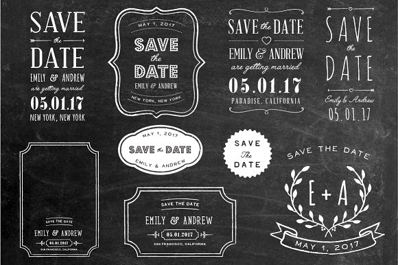 Save The Date Overlays Set