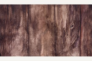Watercolor brown wooden texture