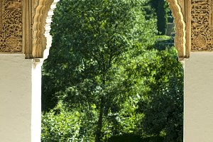 Islamic motifs arch window