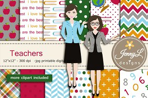 Teachers Digital Papers & Clipart