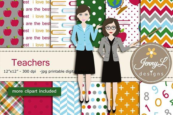 Teachers Digital Papers Clipart