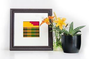 Square (Brown) Frame Mockup