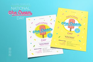 National Ice Cream Day Flyers
