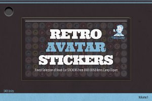Retro AVATAR Stickers Vol.1